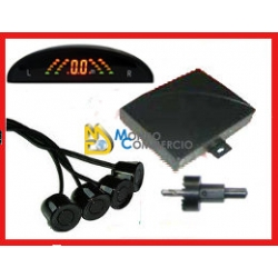 KIT 4 SENSORI DI PARCHEGGIO CON DISPLAY WIRELESS E CICALINO ACUSTICO